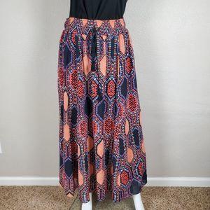 MAEVE Maxi Bohemian Multicolored Art Deco Skirt